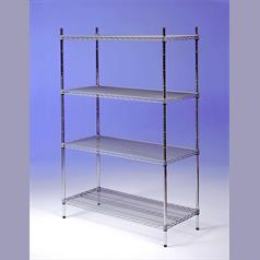 Nylon Coated Wire 4-Tier Shelving 600(l) x 300(d)mm