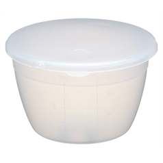 Plastic 275ml Pudding Basin and Lid