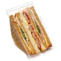 Clear Hinged Sandwich Wedge Deep Fill