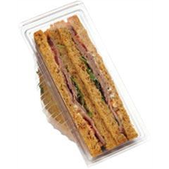 Clear Hinged Sandwich Wedge Standard