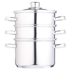 Stainless Steel Three Tier 18cm Steamer