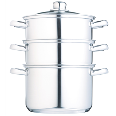 Stainless Steel Three Tier 20cm Steamer