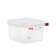 1/6 GN container and lid 176(w) x 162(d) x 100(h)mm