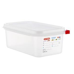 1/4 GN container and lid 256(w) x 162(d) x 100(h)mm