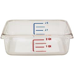 rubbermaid space saving square storage container, 1.9 litre