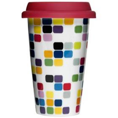 Sagaform Takeaway Mug - Coloured Squares