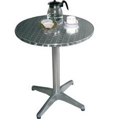 Stainless Steel Round Bistro Table Diameter: 600mm x 720mm