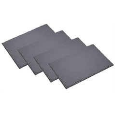 Slate Placemats Pack Of 4     30x20x0.5cm