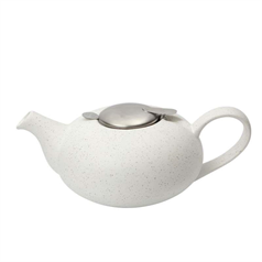 London Pottery 2 Cup Filter Teapot - Speckled White
