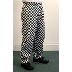 Large Check Trousers - Black Large