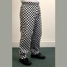 Large Check Trousers - Black Small