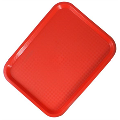 "Fast Food Tray 9.75""x13.5"", Red"