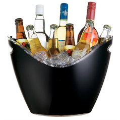 Black Acrylic Drinks Pail / Cooler