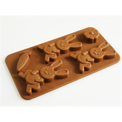 bunny rabbit / carrot silicone chocolate mould