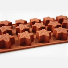 15 cell 3D star silicone chocolate mould