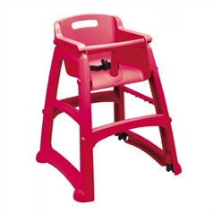 red rubbermaid high chair
