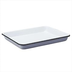 "Eagle Enamel Grey Baking Tray 11"" (28cm)"