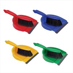 Dust Pan & Brush - Stiff Fibre - Blue
