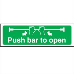 Push Bar To Open - Self Adhesive