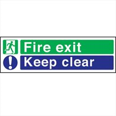 Fire Exit Keep Clear Plastic - Rigid