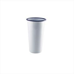 White Enamel Tumblers Tall 40cl/14oz - 12 x 9cm